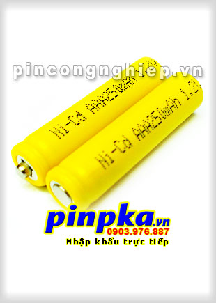 Pin Sạc Công Nghiệp-Pin Cell 1,2v NiCD AAA 250mAh